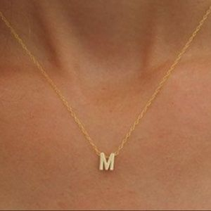 Accessories - Initial Necklace monogrammed personalized gold NWT